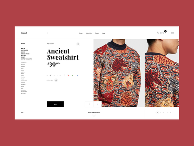 DressIt . Fashion Platform Product Page