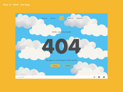 Daily UI 008 - 404 Page dailyuichallenge error page page not found 100daychallenge ui  ux illustration 404page 008 dailyui