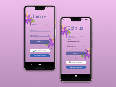 Daily UI 001 - Sign Up android app dailyuichallenge signup dailyui 001