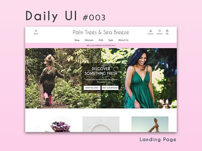 Daily UI 003 - Landing Page landing page dailyui 003 dailyui 003