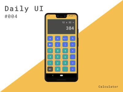 Daily UI 004 - Calculator (Helloooo Dribbble!)
