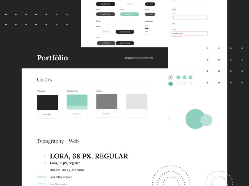 Style Guide portfolio uidesign uxdesign ui button input composition styleguide