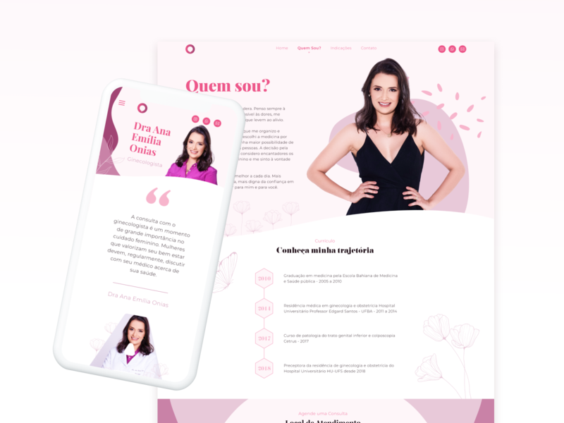 Website Doctor web design site pink female doc uid ui website design website