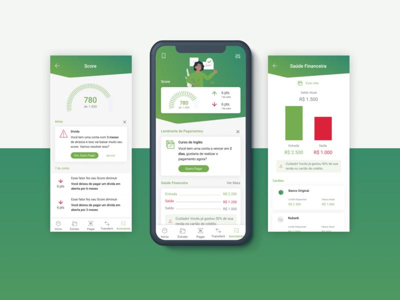 Banco Original gradient graphic cards uidesign ui study bank card finance business finance banking app ui design app design