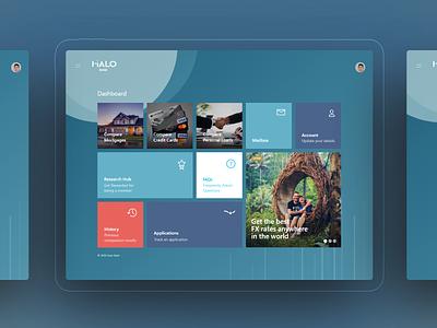 Halo bank - Interactive Dashboard UI interactive vesuviolabs banking dashboard banking card ux ui design adobe xd