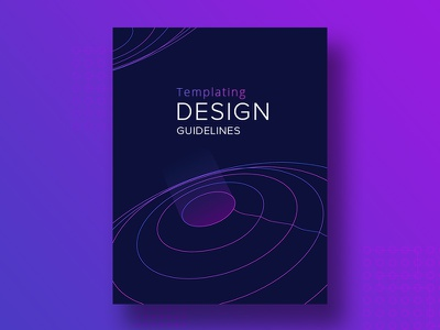 Cover design for Templating Design Guidelines blue pink purple guidelines cover design