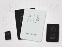 Restroom Sign cards