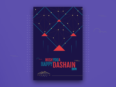 Dashain Card- Vesuviol Labs holiday card kites kite vesuviolabs giftcard card dashain