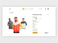 Nike Product Page UI