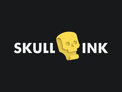 SKULL INK adobe ilustrator design branding logo branding skull skull logo 3dlogo typography logo designer logodesign logo tattoo