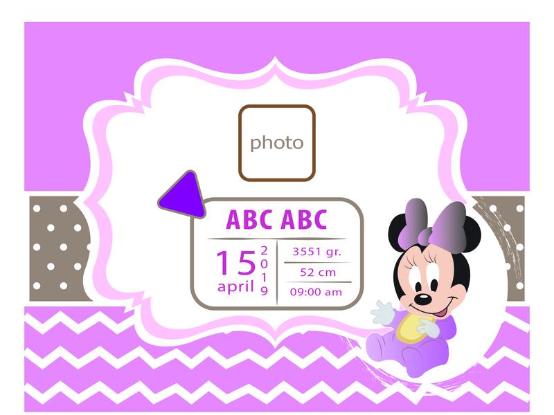 Micky Mouse It's a girl! identity ui illustrator icon design branding illustration logo vector adobe illustrator cc