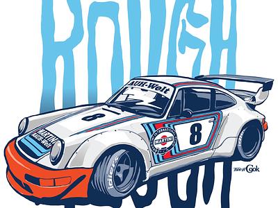 RWB Martini Porsche vector sports car automotive rwb race car porsche