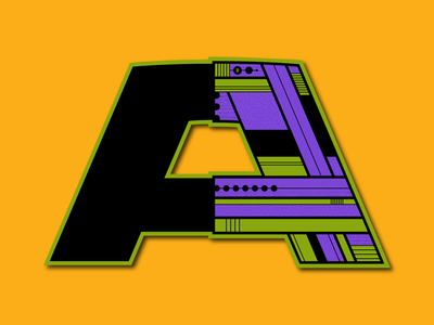 Letter A letter a typography