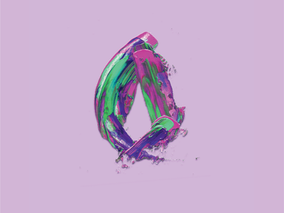 Letter O contest purple o illustrator photoshop painting typography