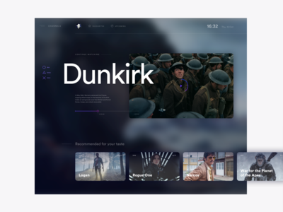 Tv On Demand—UI Weekly Challenges minimal interactive movies typography visual tv screen interface