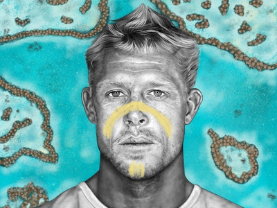 Mick surfing boho australia aboriginal procreate portrait tribe surfer mickfanning surf