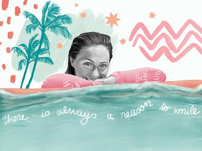 Ellie surfergirl queensland australia tribal tropical portrait surfers surfer prosurfer