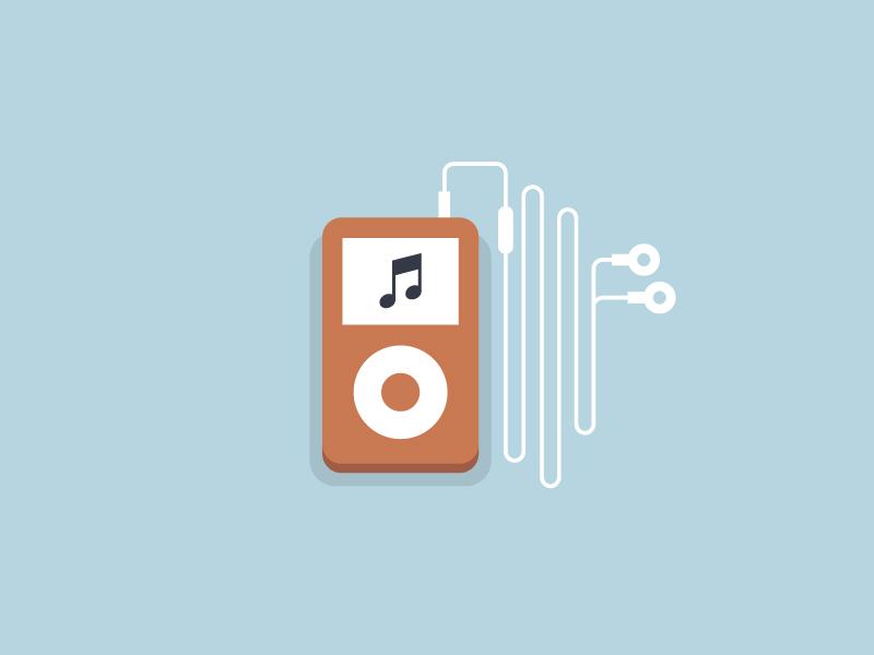 Flat iPod flat icon ipod apple illustration minimalistic