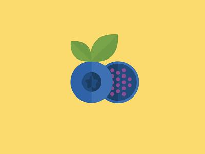 Blueberry flat blueberry pattern