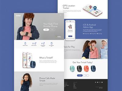 Tinitell webpage illustrations ui design webdesign webpage tinitell
