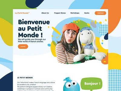 Landing page Le Petit Monde website website landing page design branding