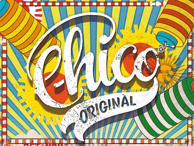 Chico branding handlettering logo typography illustration vector