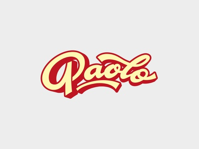 Paolo logo vector typography handlettering