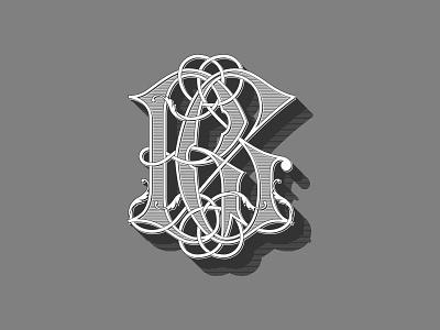 RG Monogram monogram handlettering typography vector
