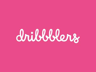 Dribbblers testing flat typography vector