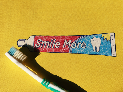 Smile More oral dentistry dentist teeth sticker stickers art photo drawing drawings world oral heath day cheer up smiling colgate smile please toothpaste smile
