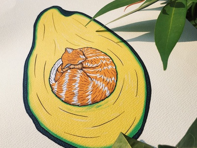 Avocato fruit art pet fur animal lol funny word pun avocato nature photo cute cats print drawing illustration kitten cat avocado toast avocado