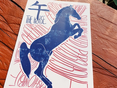 The Horse Chinese Astrology Zodiac Sign chinese new year zodiac astrology photoshop vector icon font type typography lettering tattoo tattoo design icon design animal drawing art illustration graphic design design horse