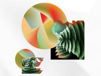Abstract Shapes Print