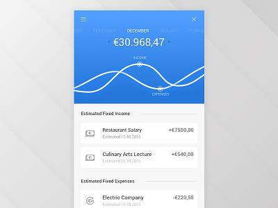 Bank Account app balance salary ui ux account mobile bank