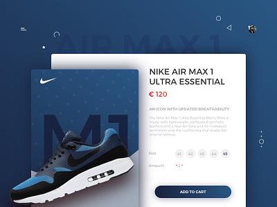 E-Commerce Nike Concept Shop sketch3 ui ux concept website shoes ecommerce nike