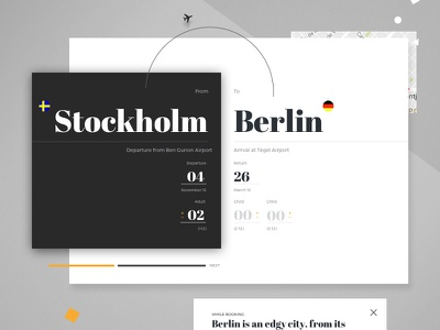 Airline Website Concept website booking typography concept flight airline airplane