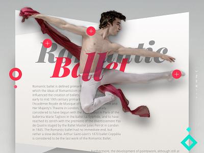 Romantic Ballet jump dancers redigma ux ui website dance design art romantic ballet