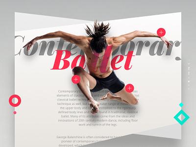 Contemporary Ballet contemporary jump dancers redigma ux ui website dance design art romantic ballet
