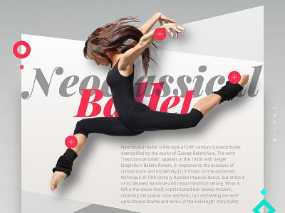 Neoclassical Ballet neoclassical jump dancers redigma ux ui website dance design art romantic ballet