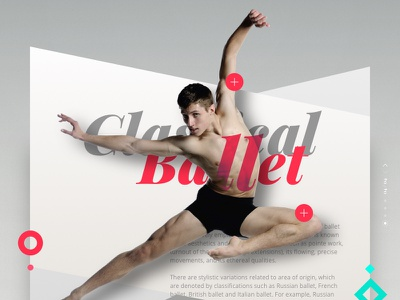 Classical Ballet classical jump dancers redigma ux ui website dance design art romantic ballet