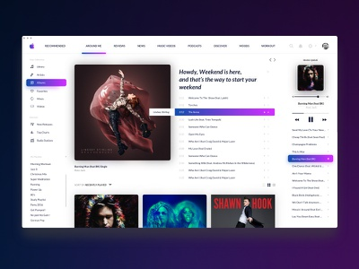 Redesign Music Player  ui ux design sound player music itunes