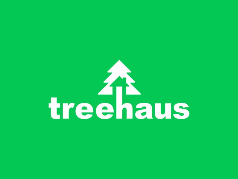 Treehaus logo lettering illustration minimal type branding logo typography flat icon graphic  design graphic art badge vector illustrator design