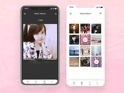 Photo Gallery Ui Design android app ios app mobile ui design creative  design ux webdesign design inspiration app creative app ui app uidesign ui