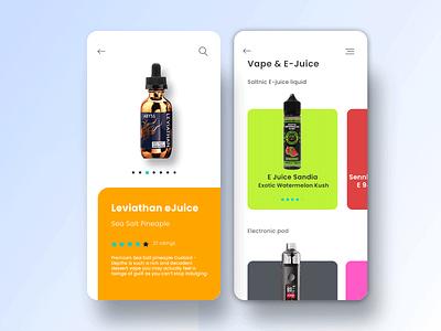 Liquid E-Juice App Concept design app ios app android app mobile app mobile ui creative  design design inspiration ux web webdesign app uidesign creative app ui app ui