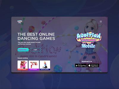 Gaming landing page app design landing page website illustration design design inspiration creative app webdesign app uidesign ui app ui