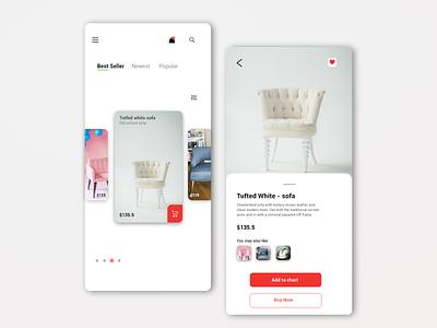 Chair App css ux uxdesign app uidesign design webdesign design inspiration ui ui app creative app
