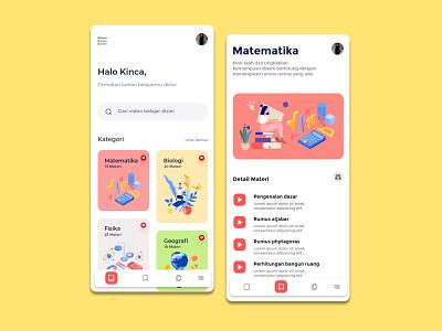 e-Learning App mobile app illustration ux webdesign ui app design inspiration minimal clean page ui
