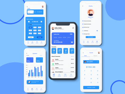 Banking & Finance App ui inspiration daily ui css ios android design inspiration illustration webdesign creative app uidesign ui app ui