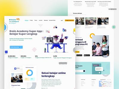 Brain Academy web app animation css branding graphic design webdesign creative app uidesign design inspiration ui app ui