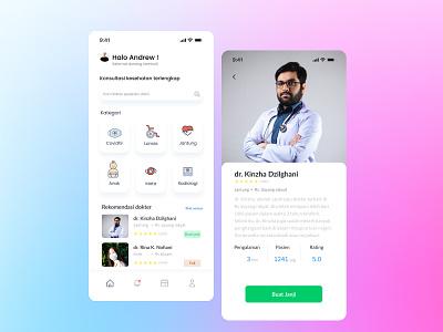 Medical Consulting app dailyui uiinspiration css webdesign animation iosapp uiux ui uidesign ui app